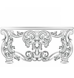 Fabulous Rich Rococo Desk Table vector image vector image