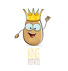 funny cartoon cool cute brown smiling king vector image
