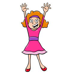 girl character at a party cartoon vector image