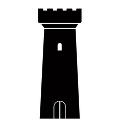 isolated tower icon vector image