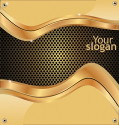 metal grill gold background vector image vector image