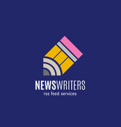 News writers rss feed services abstract vector