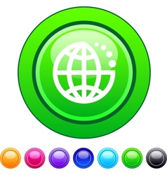 Planet circle button vector image vector image