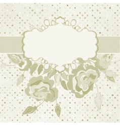 Vintage rose floral card vector