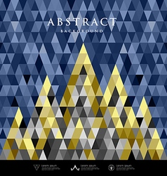Abstract architecture concept colorful triangles vector image vector image