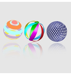 Abstract geometry spheres vector image vector image