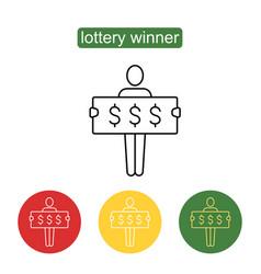 Lottery winner icon vector