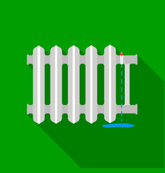 radiator icon in flat style isolated on white vector image
