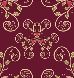 seamless floral pattern 001 vector image