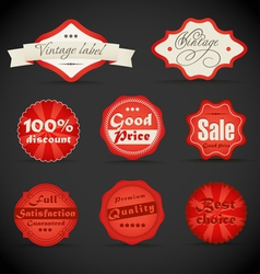 vintage discount shopping labels vector image vector image
