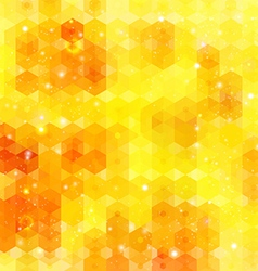 Yellow hexagon background image vector image vector image