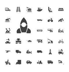 33 vehicle icons vector