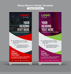 Abstract construction roll up banners vector