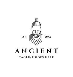 ancient man logo vector image