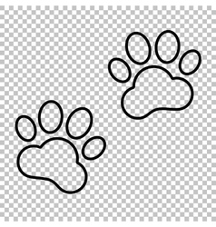 Animal Tracks line icon vector image