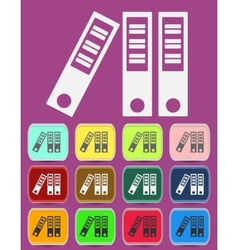 Archive Binder Icon with color variations vector image
