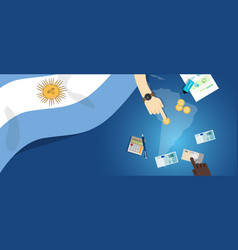 Argentina economy fiscal money trade concept vector