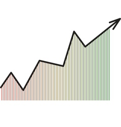 Arrow diagram chart vector