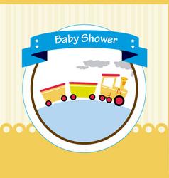 baby shower design over beige background vector image