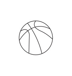 basketball ball line icon sport graphics vector image
