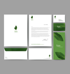 branding identity template corporate company vector image
