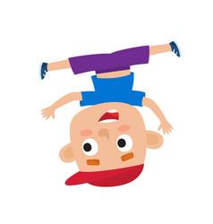 cartoon of little boy-dancer vector image