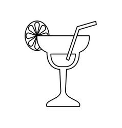Cocktail glass symbol vector