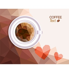 Coffee love background vector image