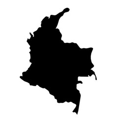 Colombia - solid black silhouette map of country vector