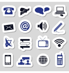 communication stickers vector image