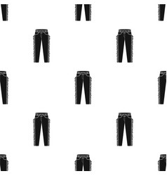 cowboy jeans icon in black style isolated on white vector image