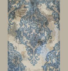 Damask texture grunge background floral vector