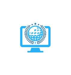 desktop golf logo icon design vector image