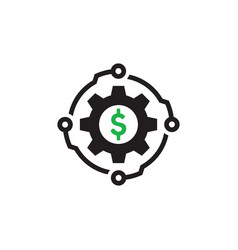 digital money technology - concept icon design vector image