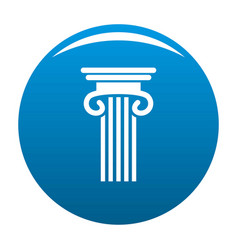 Double columned column icon blue vector