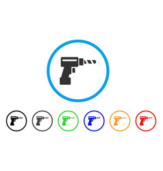 Drill rounded icon vector