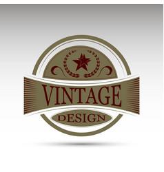 emblemvintage design vector image