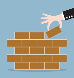 first brick vector image