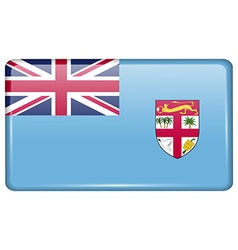 Flags Fiji in the form of a magnet on refrigerator vector