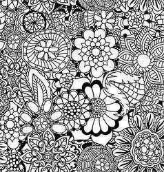 Floral doodle vector