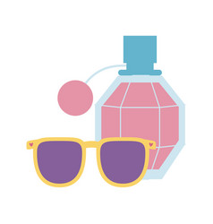 fragrance and sunglasses icon on white background vector image