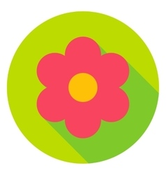 Garden Flower Circle Icon vector