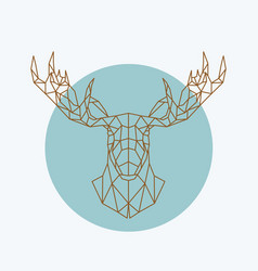 Geometric moose head wild animal zoo vector