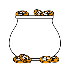 Gold pot vector