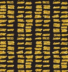 Hand drawn seamless gold glitter pattern brush vector image