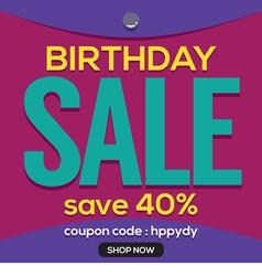 Happy Birthday Sale Banner vector image