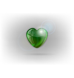 Heart shine on light green vector