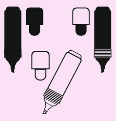 highlighter marker pen vector image