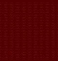Knitted dark red pattern vector