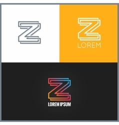 letter Z logo alphabet design icon background vector image